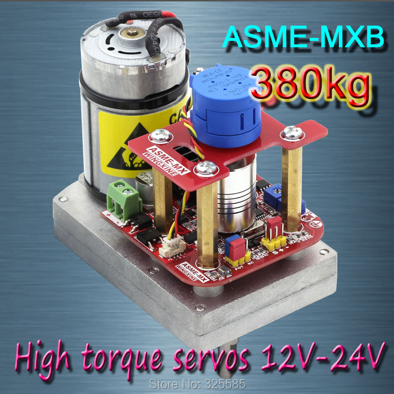 ASME -MXB High power high torque servo the 3600 Degree  servo 12V~24V  380kg.cm 0.5s/60 Degree angle large robot amazing high torque and high end servo fast powerfull waterproof ideally designed to use in r c cars