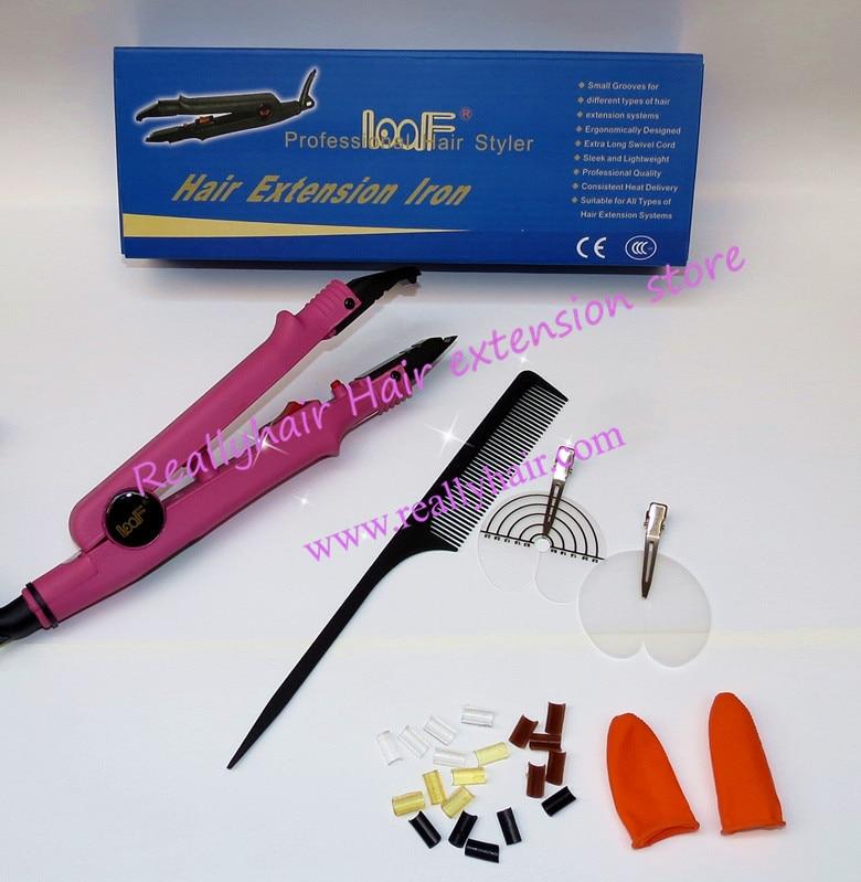 LOOF Brand New Fusion Hair Extension Iron Keratin Bonding Tool Adjustable Temperature Fusion Heat Constant
