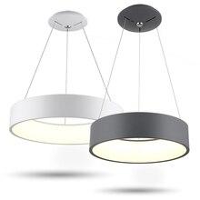 Gray/ White Modern Chandelier For Dining Room Bedroom Iron Dia 60/ 45cm Simplicity LED Lighting light fixtrus