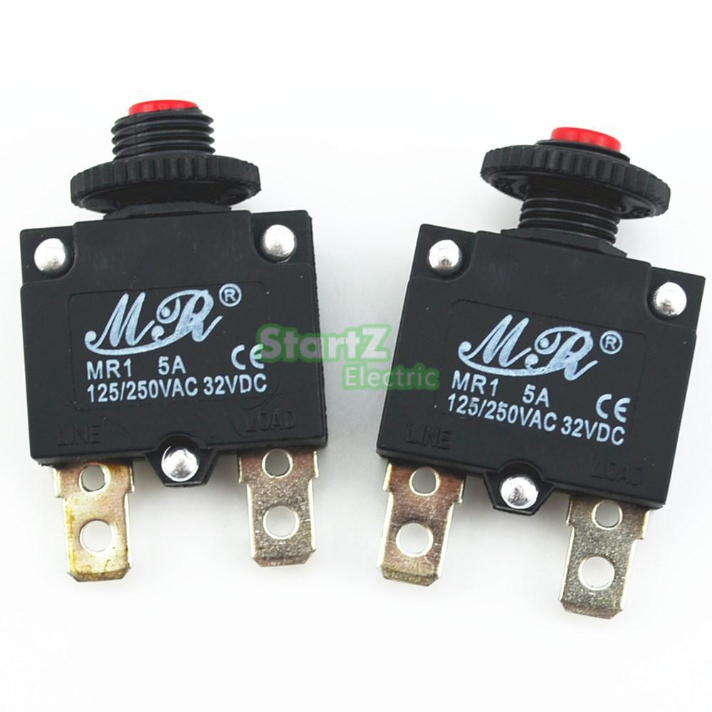 10Pcs 5A Circuit Breaker Overload Protector Switch Fuse leakage circuit protector air switch residual current circuit breaker dz15le 100 490 100a