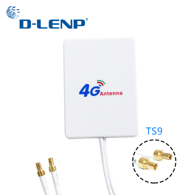 Dlenp 3M cable 3G 4G LTE Antenna External Antennas for Huawei ZTE 4G LTE Router Modem Aerial with TS9/ CRC9/ SMA Connector 5