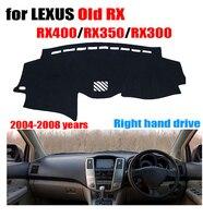 Coche cubierta del tablero del dashmat de la mano derecha cubre los accesorios autos para Lexus edad RX RX400 RX350 RX300 2004 -2008