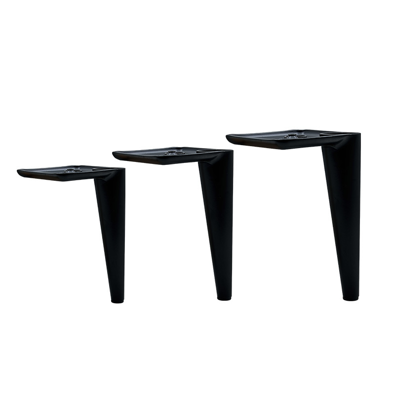 13cm 15cm Stylish Black Cone Furniture Legs Rubber Pad Cabinet Feet Chair Foot For Table Sofa Bed Non Slip Support Hardware