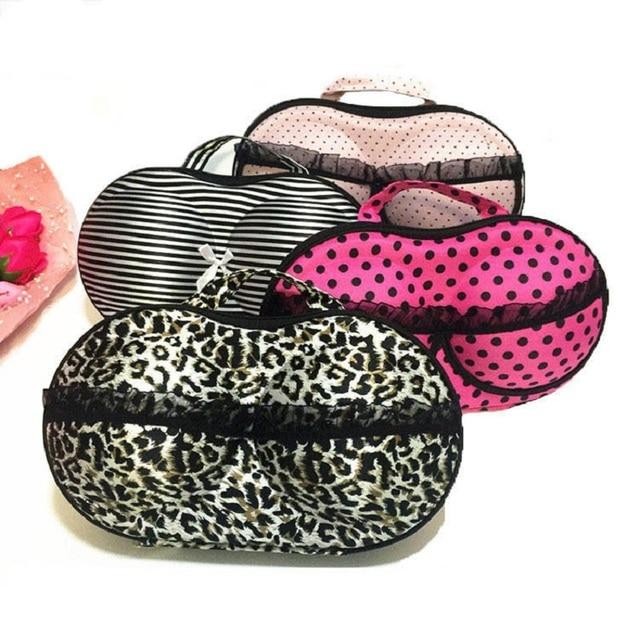 Resistente al agua y Anti-presión sujetador bolsa de almacenamiento portátil de viaje de silicona Invisible sujetador ropa interior Mujer ropa interior sujetador de almacenamiento de la caja de