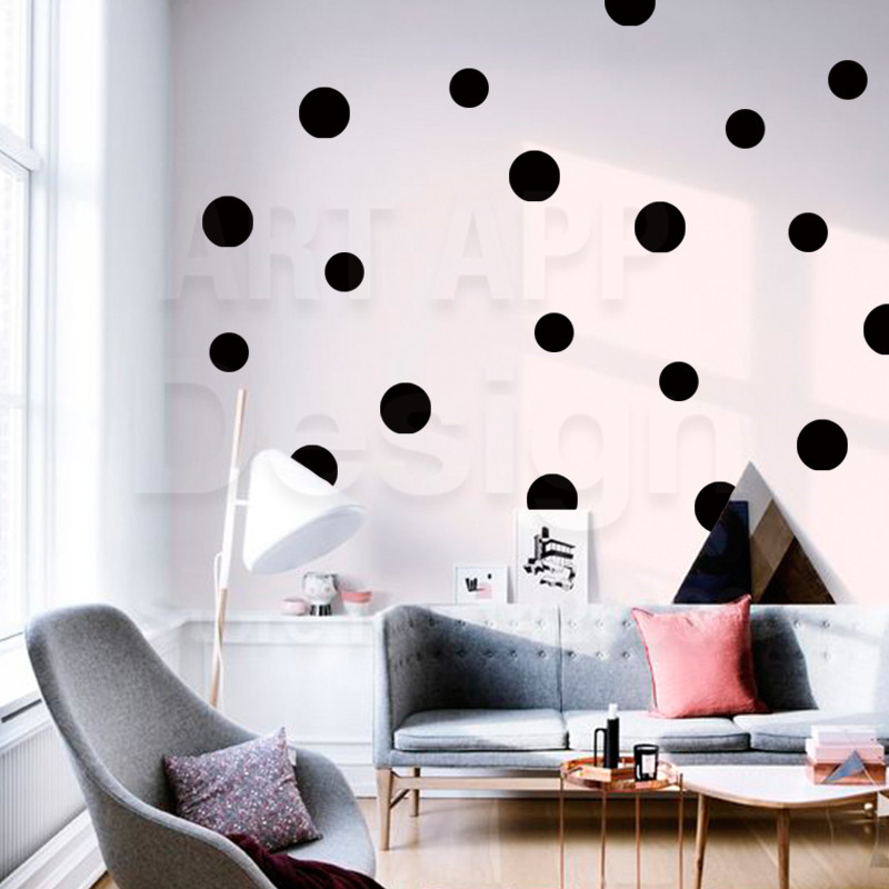 Design with Vinyl Gold A 1081 Polka Dots Quote Home Living Room Bedroom Decor Wall Sticker Decal 10 x 20