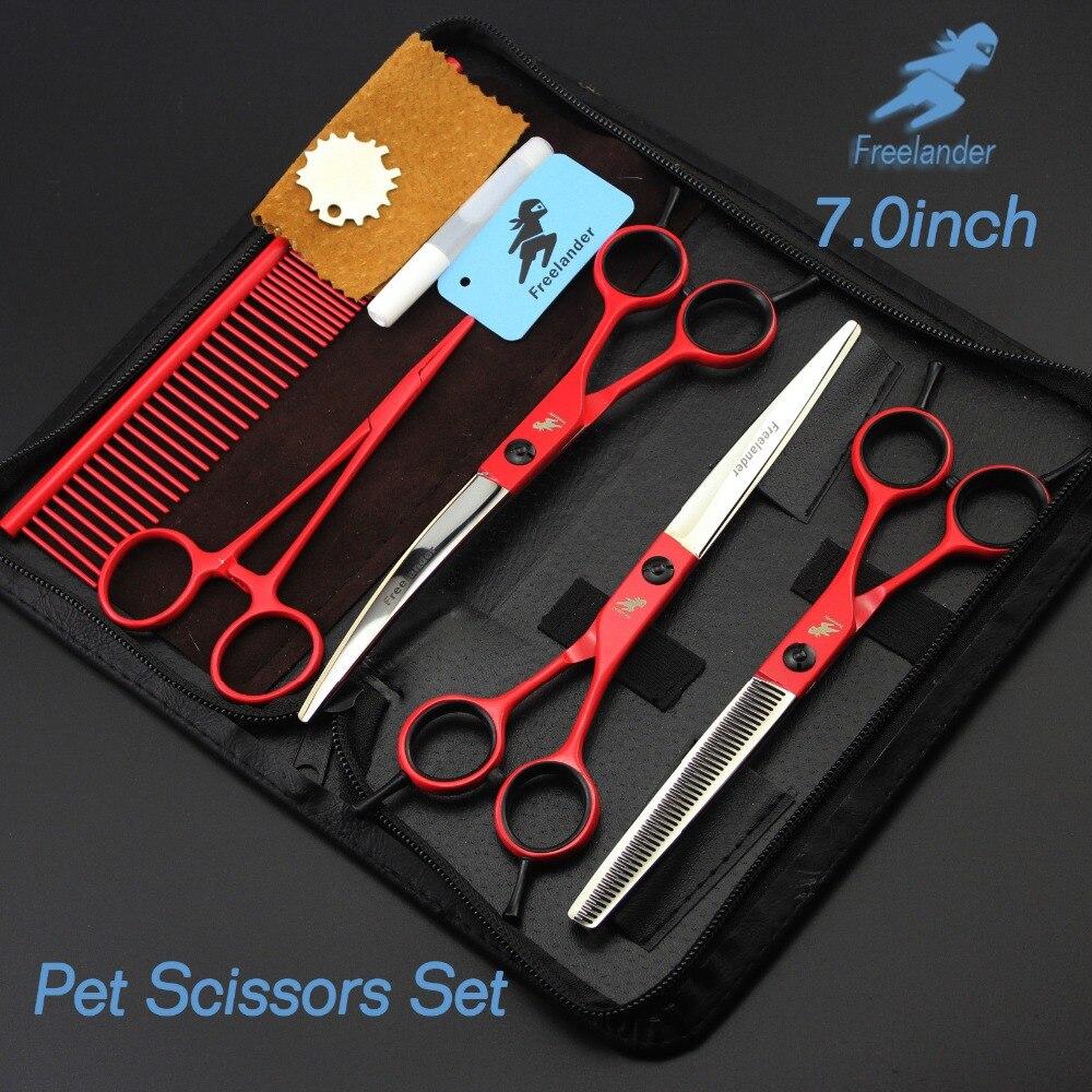 7 0 inch professional premium sharp edge dog pet grooming scissors thinning scissors big scissor shears for big dog 7.0inch Professional Premium Sharp Edge Dog PET GROOMING SCISSORS SHEARS Pet Scissors Set