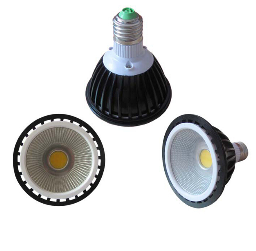 Dimmable E27 PAR30 COB LED Light Bulb Lamp 12W warm/cool White AC110V/240V Free FedEx DHL g24 e27 12w cob led light horizontal plug lamp no dimmable cool white warm white ac85 265v high brightness free shipping