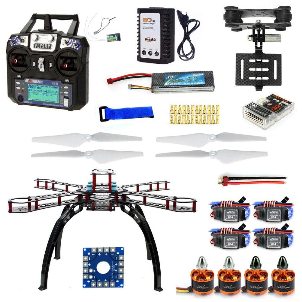 Full Kit DIY RC Drone Quadrocopter X4M380L Frame Kit QQ Super TX Gimbal F14893-O diy rc drone quadrocopter arf with gimbal frame kit qq super fs i6 tx f14892 j