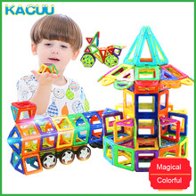 KACUU 71-149PCS Big Size 3D DIY Constructor Building Blocks Magnetic Designer Square Triangle Enlighten Bricks Toys For Children(China)