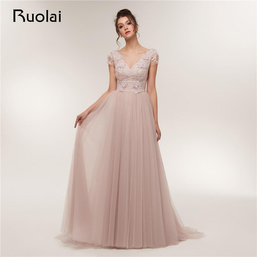 Elegant   Prom     Dress   2019 Short Sleeves A-Line Evening   Dresses   Long Flower Beaded Lace   Prom   Party   Dress   Vestido de Fiesta RE10