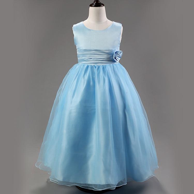 2015 Cheap Summer Girls Dress for Wedding Sweet Chiffon Princess Baby Clothes Kids Dress Children Dress