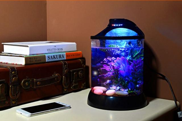 Mini Desktop 3d Background Betta Tank Ecological Aquarium