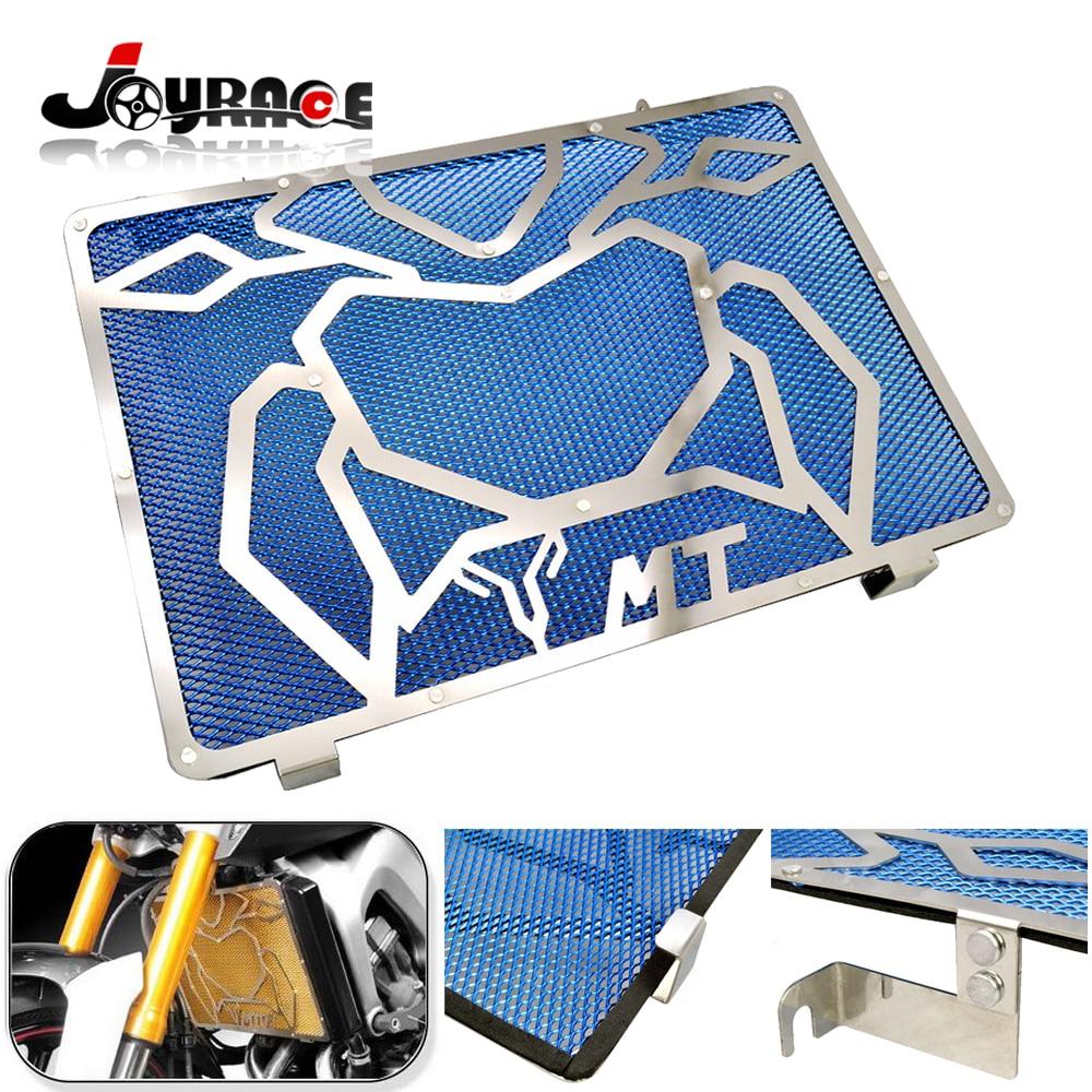 Pour Yamaha MT07 MT09 en acier inoxydable moto radiateur Grille garde couvercle protecteur matériel en acier inoxydable 304