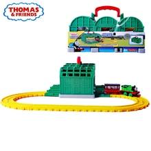 купить Original Brand Thomas and Friends Knapford Station Alloy Train Track Toy Model Car Toy-cars Diecast Toys For Children Juguetes недорого