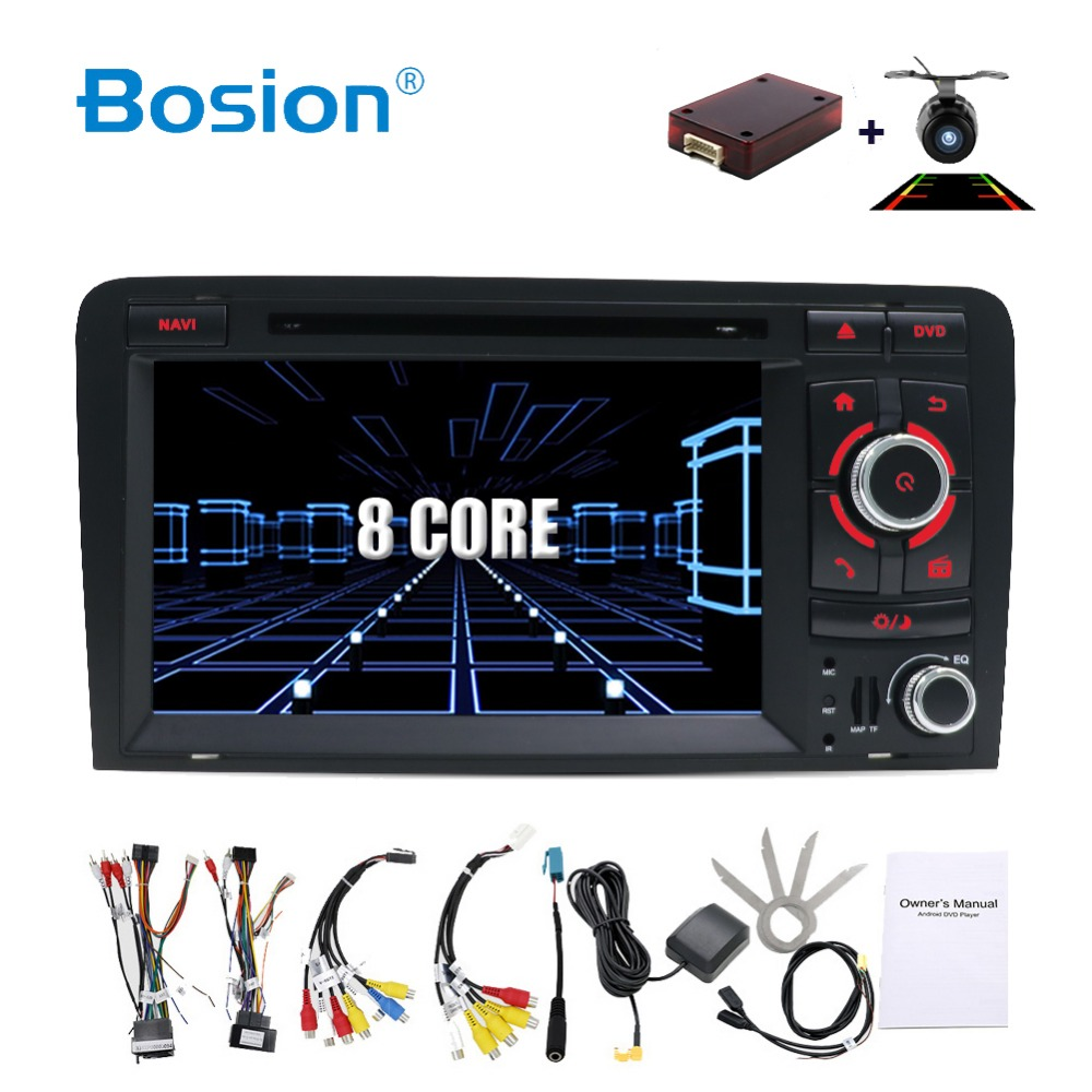 OCTA CORE Android 8.1 CAR DVD GPS For Audi A3 2006 2011 with dvd player radio stereo Audio auto multimedia screen navigation BT