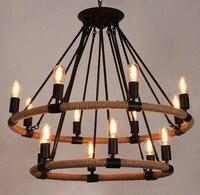 Ретро промышленная лампа веревка Эдисон винтажный подвесной светильник кафе бар стиль ретро Лофт промышленная лампа РЕПО Эдисон подвеска