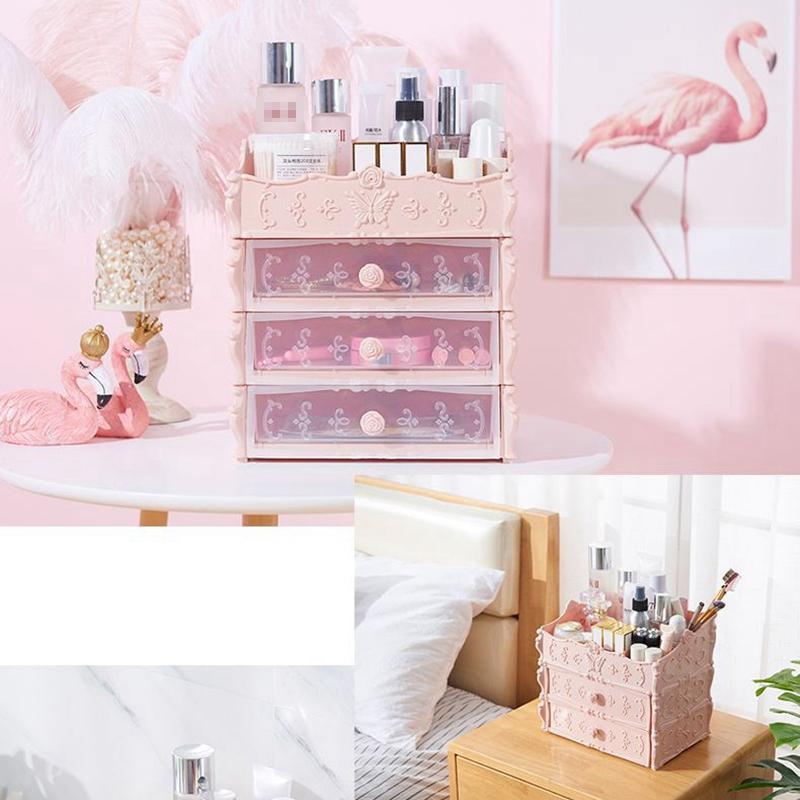 HTB1s3P3acTxK1Rjy0Fgq6yovpXaf - Plastic Cosmetic Drawer Container Makeup Organizer Box