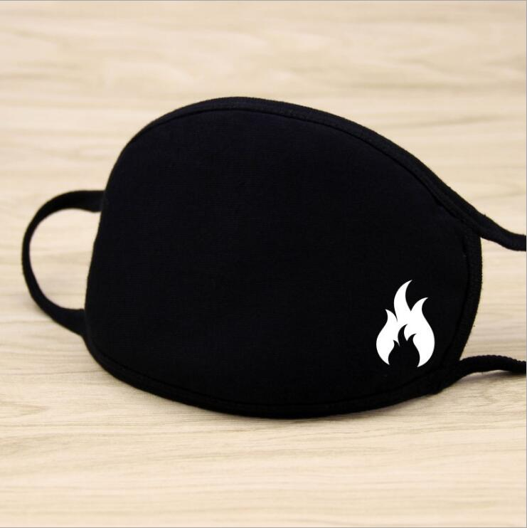 1PC Cotton Dustproof Mouth Face Mask Unisex Korean Style Kpop Black Fire Cycling Anti-Dust Cotton Facial Protective Cover Masks