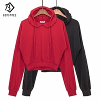 83bdff3bcd 2017 New Autumn Short Women S Sweatshirt Casual Loose V Neck Pullovers Full  Sleeve Red