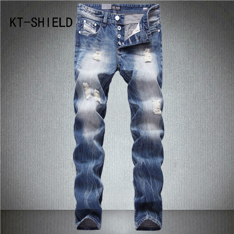 Biker jeans men ripped distressed Hip hop casual full length Slim straight Denim trousers Button cargo vaqueros pants hombre mens casual elastic ripped drape denim hip hop slim fit distressed biker jeans pants black straight pencil trousers multi zipper
