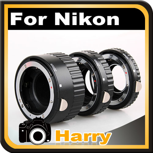 Hot AF MACRO Auto Extension Tube Set For Nikon D3400 D850 D750 D800 D810 D500 D610 D600 D7100 D7200 D-SLR Free Shippping цена