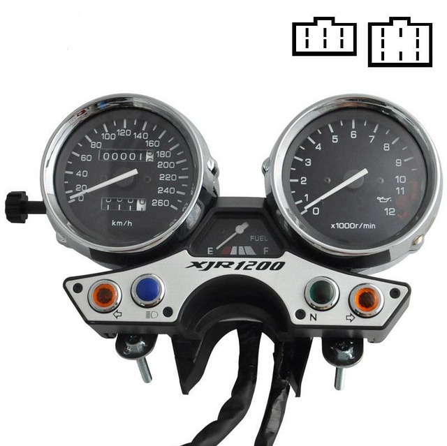 Motorcycle Gauges Cluster Speedometer Tacho Odometer Fits For Yamaha XJR1200 1989-1997
