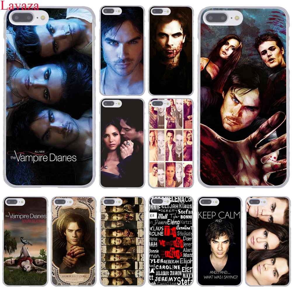 Lavaza de Vampire Diaries Hard Phone Case voor iPhone XR XS X 11 Pro Max 10 7 8 6 6S 5 5S SE 4S 4 Cover