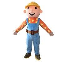 Костюмы для косплея Боб Строитель взрослых Необычные платье костюм персонажа Бесплатная доставка