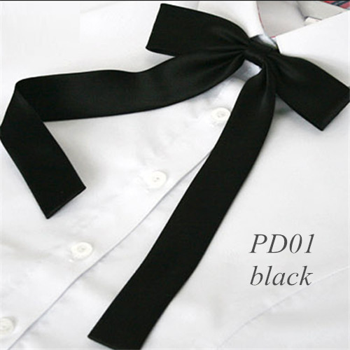 Free Shipping  Fashion Women Girls Cute Party Adjustable Bow Neck Tie 4 Colors Retail Plain Satin Waiter Student  Butterfly