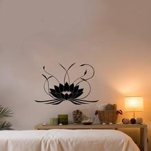 Lotus Flower Vinyl Wall Decal Yoga Studio Home Design Waterproof Sticker
