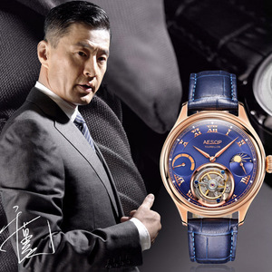 Image 5 - Часы мужские, высококлассные, с застежкой, Tourbillon, многофункциональные, механические, 7001