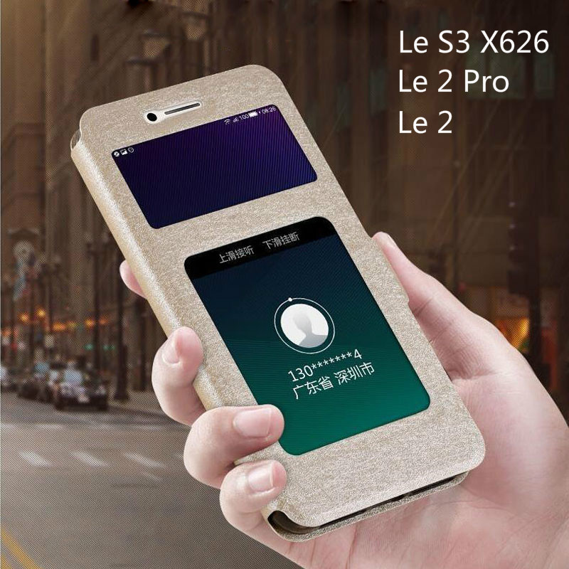 Flip Cover for Leeco <font><b>Le</b></font> S3 X620 Case Luxury View Window Leather Case for Letv <font><b>Le</b></font> <font><b>2</b></font> Pro <font><b>X527</b></font> X520 X626 Le2 Pro X522 X20 Phone Bag image