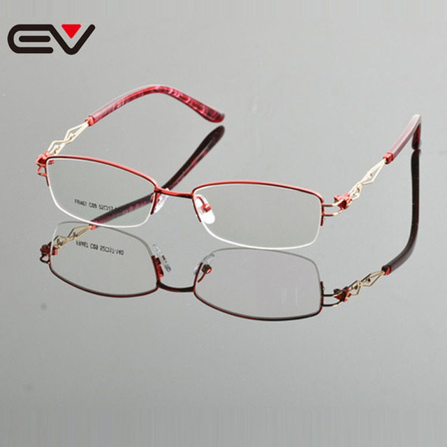 c5b163b1120 2015 New Design Eyeglasses Frame High Quality Brand Optical Frames Eyeglass  Semi Frame Glasses Wholesale Retail Oculos EV0867