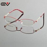 2015 Nowy Projekt Marki Oprawki Okularów Ramki Okularów Wysokiej Jakości Pół Ramka Okulary Hurt Detal EV0867 Óculos