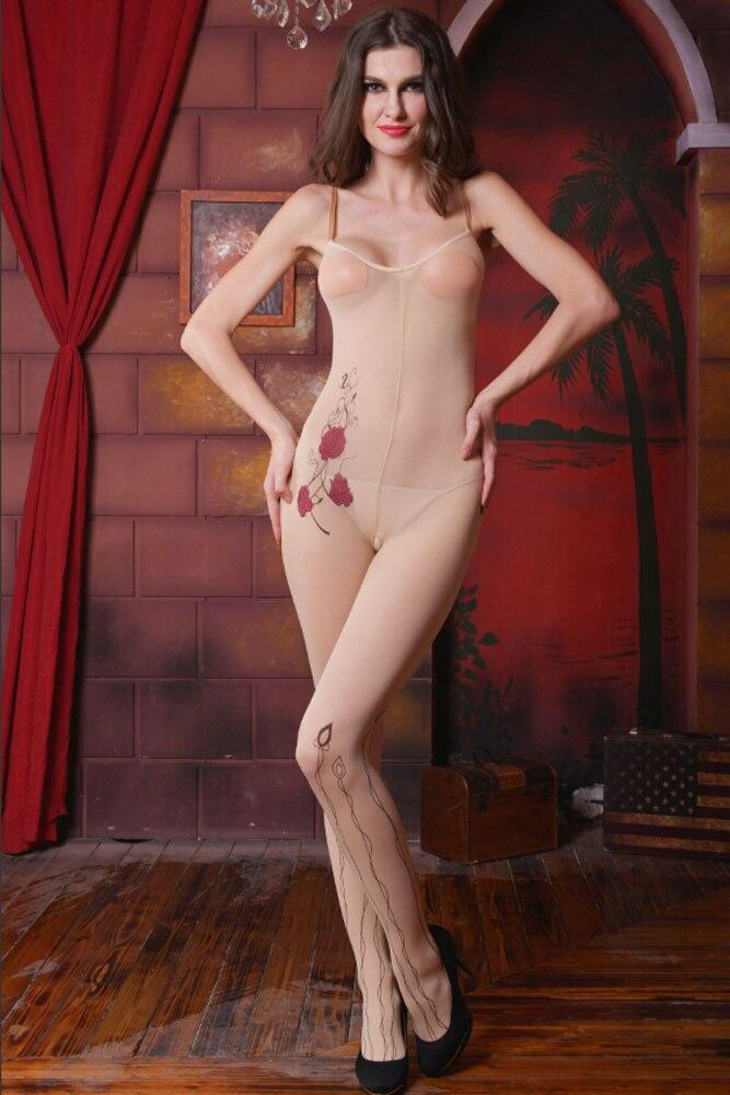 Woman in sheer nude