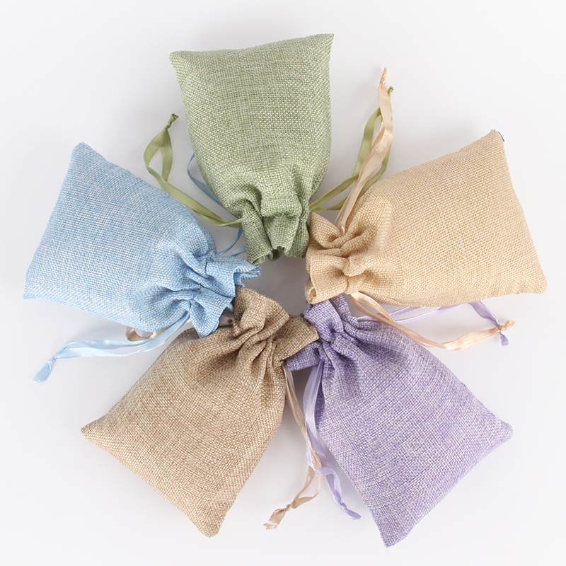 20pcs/lot Wholesale 10x15cm Garden Natural Burlap Jute Sackcloth Pouches Fabric Linen Bags With Ribbon Drawstring New Arrivals