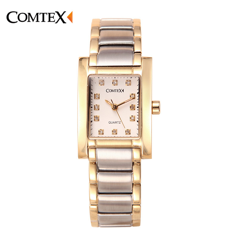 COMTEX Watch Women Top Luxury Band Unique Design Rhinestone Dial Fashion Casual Ladies Dress Watches Quartz Wristwatch For Femal