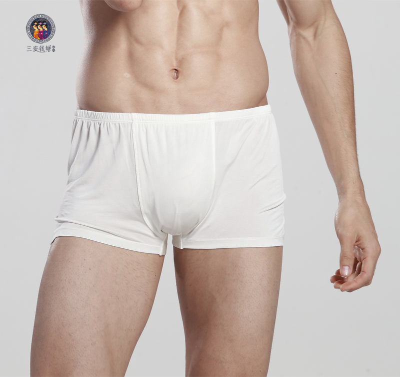 Mens underwear blockbuster encryption silk physiological mulberry silk underwear boxer pants pants are comfortable