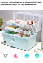 Household medicine box multi-layer large medical first aid products family storage baby child