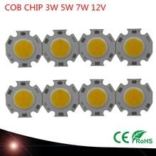 10X3 Вт 5 Вт 7 Вт круглый COB светодиодный светильник источник чип на плате лампа Теплый натуральный холодный белый интегрированный круговой COB