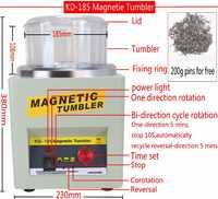 ¡Fabricante! KD/KT-185 máquina de acabado pulidor de joyería de vaso magnético, máquina de pulido magnético AC 110 V/220 V