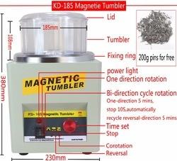 ¡Fabricante! KD/KT-185 vaso magnético pulidor de joyas máquina de acabado, máquina de pulido magnético AC 110 V/220 V