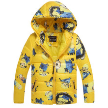 WENDYWU Одежда для мальчиков детская стеганая куртка с принтом гадкий я 2 и миньоны одежда для мальчиков детское пальто пальто с капюшоном одежда с персонажами из мультфильмов для маленьких мальчиков