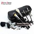 Profissional 12 pcs Marca de Maquiagem Escova Pincel Maquiagem Cosméticos Make Up brushes Set Com Case Bag Kit, frete grátis