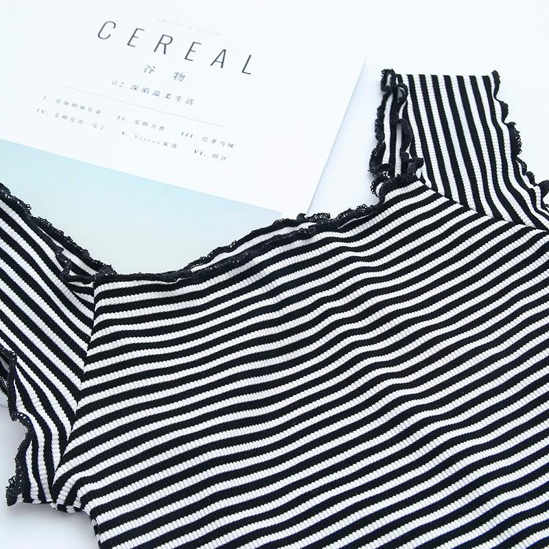 HTB1s3RZOVXXXXc4aFXXq6xXFXXXv - Striped Knitted Off Shoulder Slash Neck Short Sleeve T Shirt PTC 27