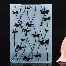 Дерево бабочка шаблон тиснение папка пластиковые штампы шаблоны для вырезания для diy Изготовление бумажных карточек Ремесло Конверт Декор подарочная коробка