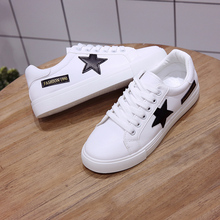 Women Sneakers Shoe Lace Up Round Toe Casual Women Shoes Women Flat Leather White Board Shoes Casual Shoes Female 2017 hot selling crystal embellished woman casual shoes round toe white leather flat shoes lace up flat shoes high top shoes