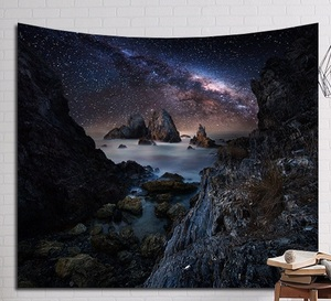 Image 2 - CAMMITEVER platillo volador fantástica noche nube estrellada cueva bosque árbol nieve montaña tapiz colgante de pared hogar arte