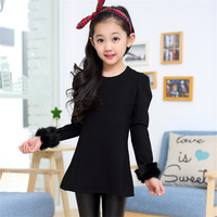 Autumn Winter Quality Baby Girl Dress Tutu Evening Party Infantil Children Clothing Next Brand Long Sleeve