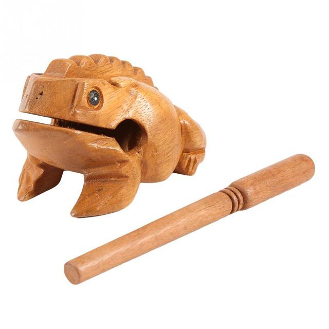 Thailand Traditional Craft Wooden Lucky Frog Croaking Musical Instrument Home Office Decorative Miniatures 2